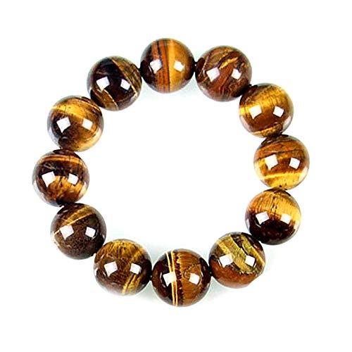 Snner 8mm Tiger Eye Pulsera Piedra para Hombres Mujeres–Energie Piedra Natural Aceite Esencial Lava Onyx Black Rock Tiger Eye Pulsera Perlas