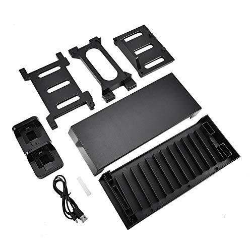 Socobeta Soporte de ventilador de refrigeración PS4 fácil instalación ventilador de refrigeración juego disco rack durable para PS4 SLIM PRO