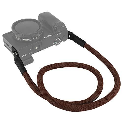 Haoge カメラネックストラップ Sony a7 a7M2 a7M3 a7R a7RM2 a7RM3 a7RM4 a7S a7SM2 a9 a9M2 a99M2 RX10M2 RX10M3 RX10M4 RX1RM2 クライミングロープコーヒー用