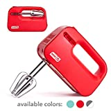 Dash Smart Store Compact Hand Mixer Electric for Whipping + Mixing Cookies, Brownies, Cakes, Dough,...