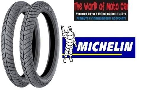 Paire de pneus michelin modèle city pro 120/80 – 16 60p 100/80 – 16 50P