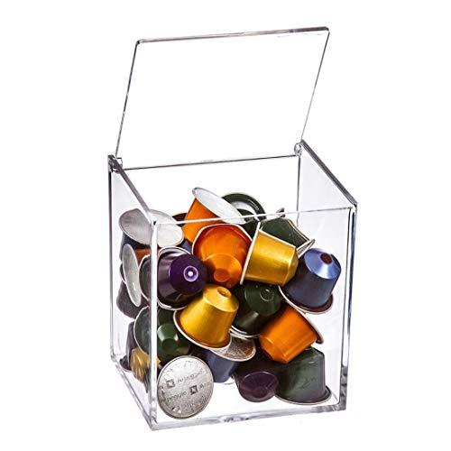 Dcasa - Portacapsulas metacrilato para capsulas nespresso o dolcegusto, Capacidad para 13 cápsulas Dolce Gusto o 40 cápsulas Nespresso