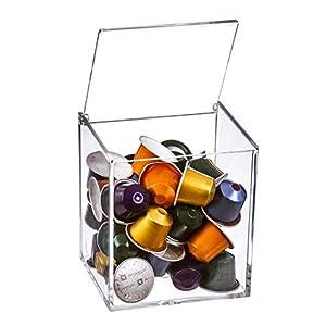 Dcasa - Portacapsulas metacrilato para capsulas nespresso o dolcegusto