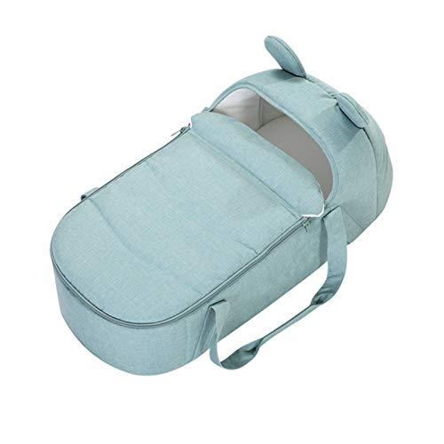 Portabebés portátil, canasta para dormir para bebés, canasta para dormir de seguridad para recién nacidos, cama de viaje para bebés, cuna móvil con cinturón de seguridad para automóvil y funda / asa