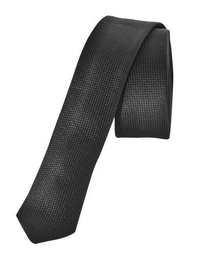 Sixth June Cravate à quadrillages noir tendance et fashion Noir Unique