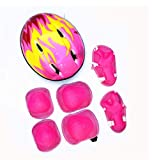 7 unids/Set Kids Cycling Rotective Gear Bicycle Skating Skating Rodilla Guardia Deportiva Rodillo de Deportes Niños Codel de Codo Ajustable Regalo (Color: Rosa) (Color : Pink)
