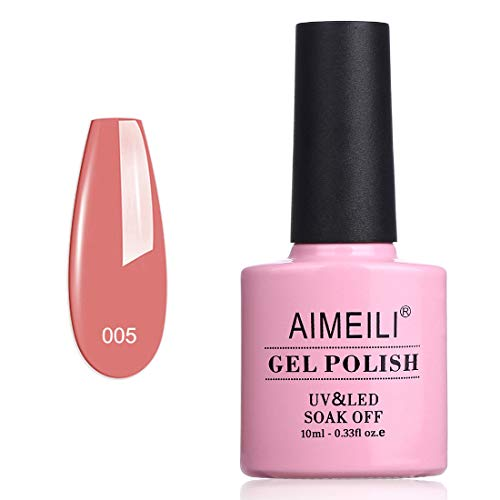 AIMEILI UV LED Gellack Gel Nagellack Nude Gel Polish - Rose Bud (005) 10ml