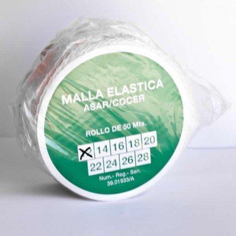 alesframa Malla elástica para Carne, Rollo de 50 Metros (Calibre 12)