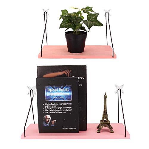 Egbert Pink Household Wooden Hanging Holder Wall Mount Rack Creative Home Hooks - L