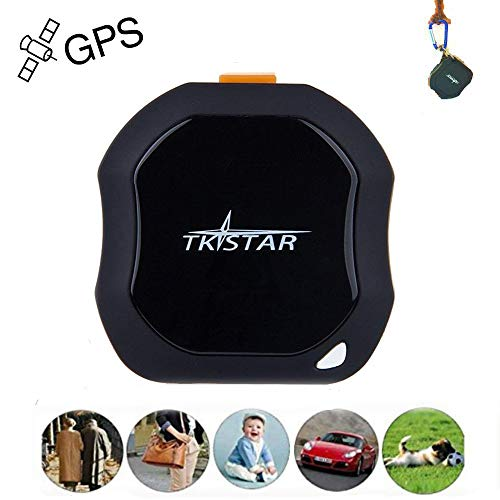 Personal GPS Tracker, Mini Portable GPS Tracker Tracking Device, Real Time Vehicle GPS Tracker,...