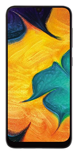Samsung Galaxy A30 SM-A305FDS 64GB, Dual Sim, 6.4' FHD+ Super AMOLED Infinity-U Display, 4GB RAM, GSM Unlocked International Model, No Warranty (Black)