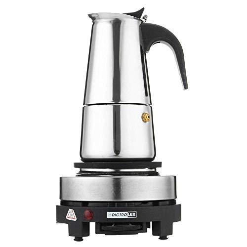Inoxidable apoyo estufa concentrada poco cafetera Moka italiano para el café de acero plano establece 220v dispositivos eléctricos,...