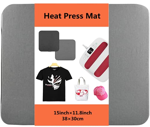 Heat Press Mat for Cricut EasyPress Machines 15×11.8 inch, Easy Press Mat for HTV Craft Vinyl Ironing Insulation Transfer Projects