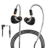 in Ear Monitor,DCMEKA Dynamic Hybrid Wired Earbuds, Dual Driver in-Ear Earphones Musicians in Ear Headphones with MMCX Detachable Cables, Noise-Isolating Earbuds, HiFi Stereo (Mixed Color)