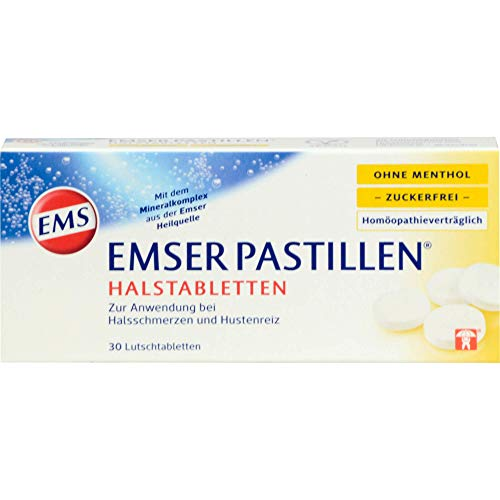 Emser Pastillen zuckerfreie homöopathieverträgliche Halstabletten ohne Menthol