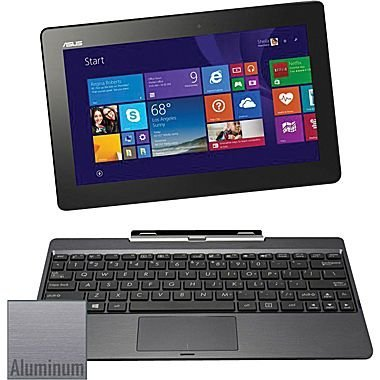 ASUS T100TAM-C12-GR, 10.1' - Detachable 2-in-1 Touchscreen Laptop - Intel Atom Z3775 - 64GB HD - 2GB RAM - Win8.1 (Renewed)