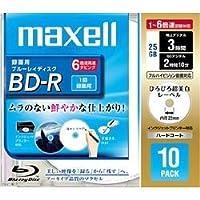maxell 録画用 BD-R 25GB 6倍速対応 プリンタブル ホワイト 10枚入 BR25VFWPC.10S