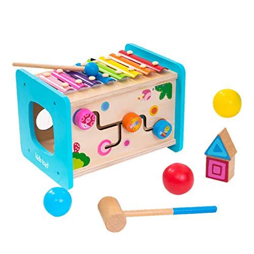 WINJEE, Cubo Actividad Madera Octave Knock Baby Xilófono