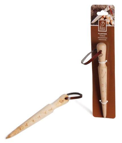 Esschert Design Pflanzholz, Blumenzwiebelsetzer aus Holz, ca. 2,9 cm x 2,9 cm x 25,9 cm