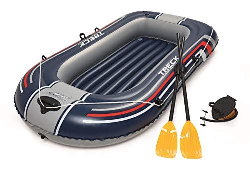 Bestway 61083000 Barca Hinchable+remos+hinchador 228x127cm, Juventud Unisex, Multicolor, 228x127 cm