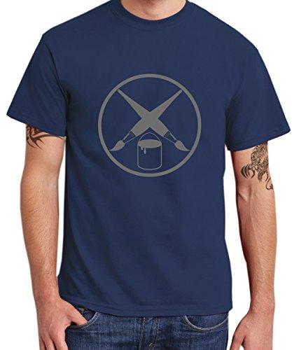 - Maler Zunft - Boys T-Shirt Navy, Größe XL