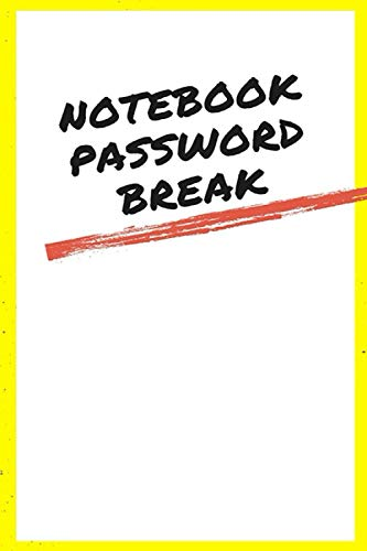 Notebook Password Break: Onenote Password Book Log Book Cover Color White Frame 6