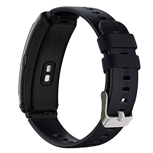AISPORTS Correa de Reloj de Liberación Rápida de 16mm Compatible con Huawei Talkband B3/B6 Correa de Silicona, Pulsera Deportiva de Goma Flexible, Correa de Repuesto para Fossil Q Accomplice/Neel