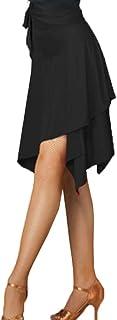 ダンススカート スカート ラテンダンス レディース 無地 ラップスカート 不規則 インナーパンツ付き 大人用 魅力的 練習着 ダンス衣装 ラテン 社交ダンス