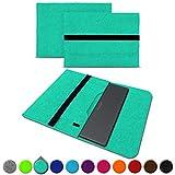 UC-Express Sleeve Hülle für Medion Akoya S3409 E4254 S4219 E3216 E3215 E3223 E4253 13-14 Zoll Tasche Filz Notebook Cover Etui Case, Farbe:Mint