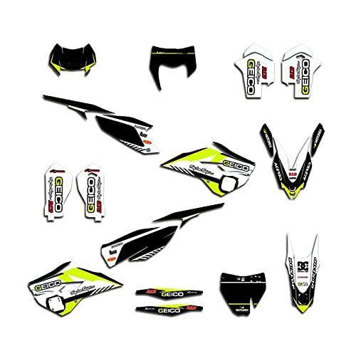 Protector para Depósito Etiquetas Engomadas Gráficas De La Motocicleta Pegatinas para Husqvarna TE FE 125 250 350 450 2014-2016 TC FC 2014 2015