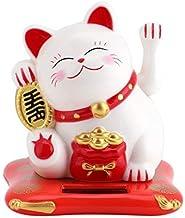 Jadeshay Lucky Cat - Hoek kat op zonne-energie Hoek Kat Gelukkige Kat Zoete Zonne-gelukken voor Bureau Woonaccessoires Dec...