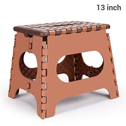 Miner 15inch opvouwbare plastic stoel voet opstapje keuken tuin badkamer toilet kruk outdoor draagbare wandelstoel kindermeubilair, 13inch bruin