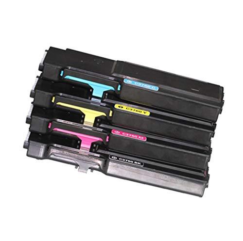 YANGYA ReciclableAdecuado para el Cartucho de tóner Compatible con Color DELL 3760 DELL C3760N / C3760DN / DELLC3765DNF Cartucho de tóner Compatible con la Impresora-1