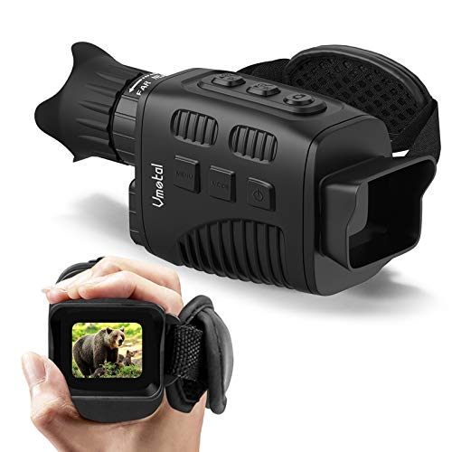 """Digital Night Vision Monocular Infrared for Darkness with 1.5"""" TFT Inner Screen, IR Camera 960P HD Super Light Weight Video Recording Photo Taking for Outdoor Camping Hiking"""