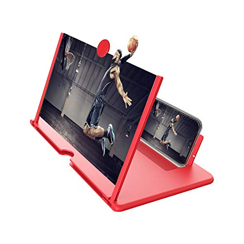 """""""N/A"""" Phone Screen Magnifier 12' 3D Hd Mobile Phone Enlarger Projector Portable Cell Phone Amplifier with Anti-Radiation Eye Protection for Movies Videos Gaming for All Smartphones"""