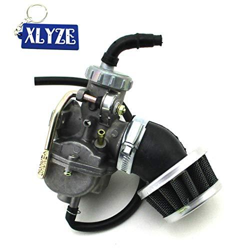 XLYZE Carburateur Carb 20 mm + 35 mm Filtre à air pour Briggs & Stratton Animal Go Kart Mini Bike 50 cc 70 cc 90 cc 110 cc ATV Quad Pit Dirt Bike