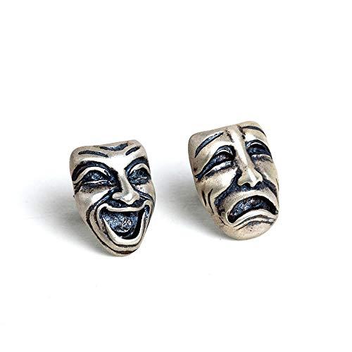 925 Sterling Silber Ohrringe,Ohrstecker Silber Ohrringe Damen Weinen Smiley-Modeschmuck Kreative Einzigartige Geschenk Urlaub Exquisite Persönlichkeit Temperament Ohrringe Mädchen