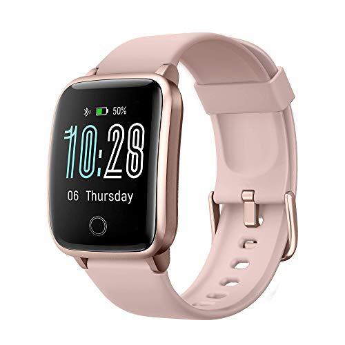 Montre Connectée Femmes Smartwatch avec IP68 Etanche Sommeil Moniteur de Fréquence Cardiaque Chronometre Calories Podometre Montre Intelligente Fitness Tracker d'Activité pour Cadeau Smartphone