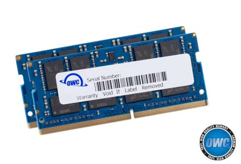 OWC 32.0GB (2 x 16GB) 2666MHz DDR4 PC4-21300 SO-DIMM 260 Pin Memory Upgrade, (OWC2666DDR4S32P), for 2018 Mac Mini (macmini18,1), 2019 27 inch iMac (iMac19,1) and PC laptops