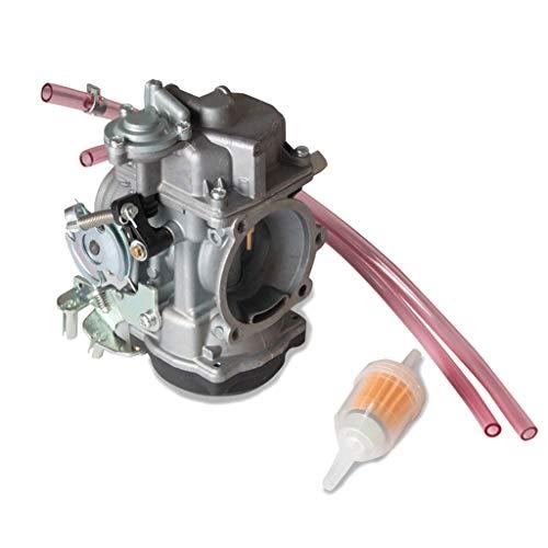 Fashion SHOP Carburador Motocicleta de 40 mm carburador Compatible con Harley Davidson Sportster CV 40 XL883 Carb Reemplazo Número de Pieza 27421-99C 27421-99A 27465-04 Controlar