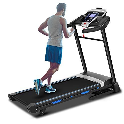 ANCHEER Folding Treadmill, 3.25HP Automatic Incline Treadmill