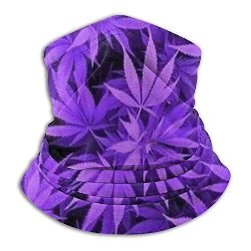 Any Way Púrpura Weed Neck Polaina Bandana Cuello Calentador Pasamontañas para Hombres Mujeres Sol UV Protección contra el Polvo del Viento