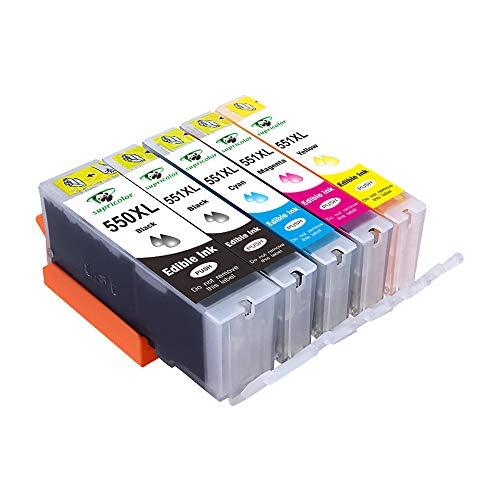12 COLORI CLI-251XL CLI251 Inchiostro Set Per Canon Pixma MG5420 MG5520 MG6320 Nuovo Chip