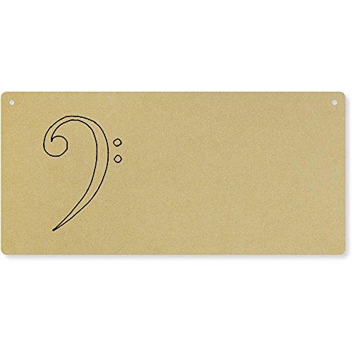 Azeeda 'Music Symbol' Large Wooden Wall Plaque/Door Sign (DP00032012)