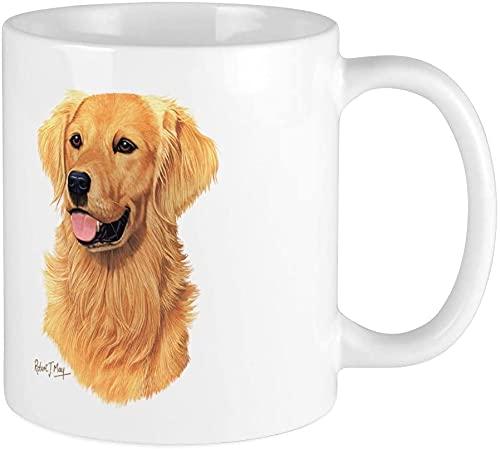 Golden Retriever Taza de café de 14 onzas, apta para microondas y lavavajillas, Golden Retriever
