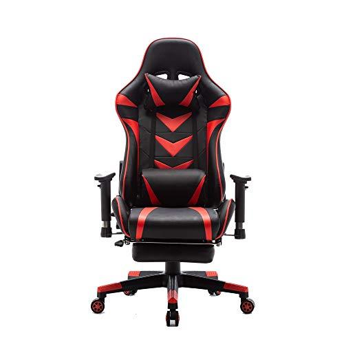 2019 Hoge rug Computer Stoel PU Lederen bureaustoel PC Racing Executive Ergonomisch Verstelbare Draaibare Zwenkstoel