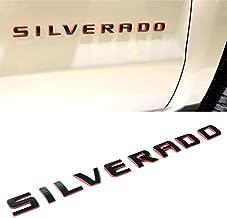 Yoaoo 1x OEM Red Line Silverado Nameplate Letter Emblem 3D Badge 1500 2500Hd 3500Hd Original Silverado Series RedLine