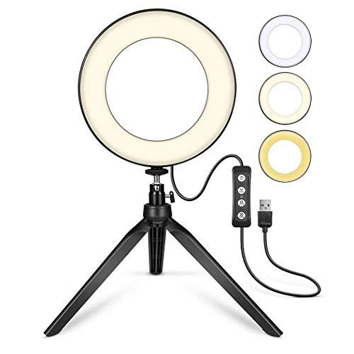 Kloius Transmitir fotografía en Vivo Luz de Relleno Cámara LED Flash Luz Regulable Flashes con Zapata