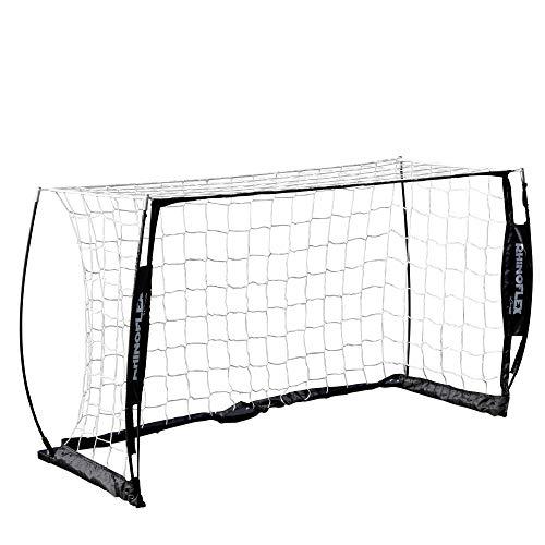 Champion Sports Unisexs Rhino Flex 3 x 5 Soccer Goal Black FrameWhite Net
