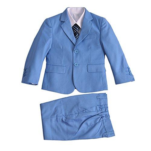 Cinda Jungen Formale Hellblau Anzüge Hochzeits-Seite-Jungen-Partei-Abschlussball 5 Stück-Klage 146-152